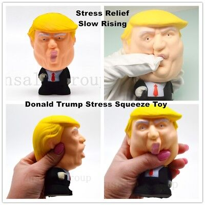 Donald Trump US President Stress Pressure Relief Slow Rising Squeeze Squishy Toy