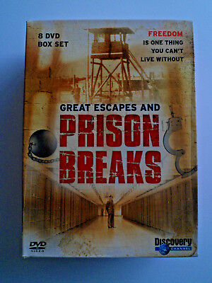 Great Escapes and Prison Breaks 8 DVD set Discovery Channel