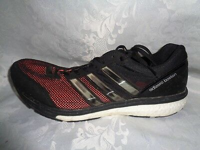 NICE ADIDAS ADIZERO Boston Boost Running Shoes Mens 11.5 Black Red BARELY USED!