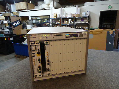 HP Agilent E8402A VXI Enhanced Mainframe w/ E8491B 89605A E1439A Modules
