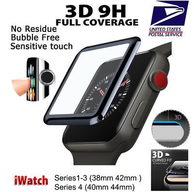 3D Tempered Glass Screen Protector For Apple Watch iWatch 42mm Series 1 2 3 US