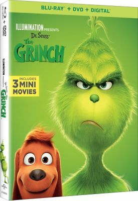 Grinch, The (Blu-ray+DVD+Digital, 2019) NEW w/ Slipcover