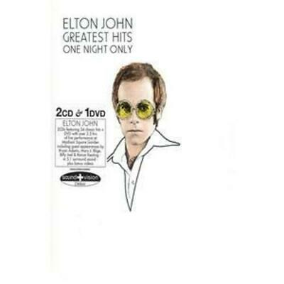 Elton John : One Night Only: The Greatest Hits CD 3 discs (2005) Amazing Value