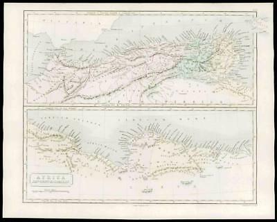 1864 - Original Antique Map ANCIENT LYBIA NORTHERN AFRICA Septentrionalis (19)