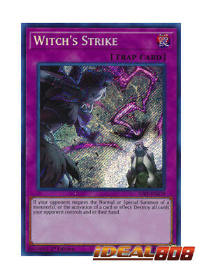 YUGIOH x 1 Witch's Strike - SAST-EN079 - Secret Rare - 1st Edition Near Mint