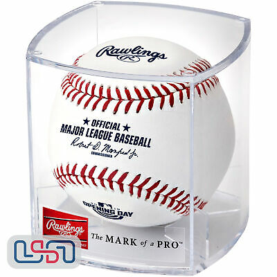2019 Opening Day Rawlings Official MLB Game Baseball - Cubed