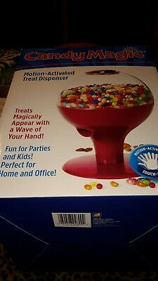 Candy Magic Motion Activated Gumball  Peanuts Dispenser Touch-Free  Red
