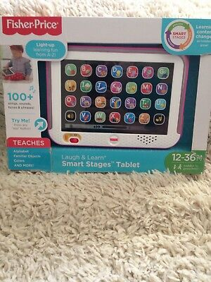 fisher price laugh & learn smart stages tablet pink new in box