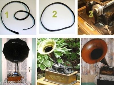 The BEST Leather BELT kit for Edison, Pathe, Columbia Cylinder Phonographs