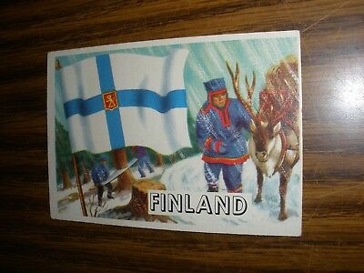 1956 Topps Flags of the World #74 Finland G/Vg