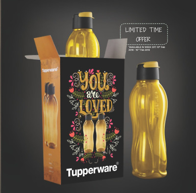 Tupperware Aquasafe GOLD  Water Bottle , 750ml, Set of 2 -Limited Time Offer