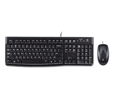 Logitech MK120 keyboard USB Black