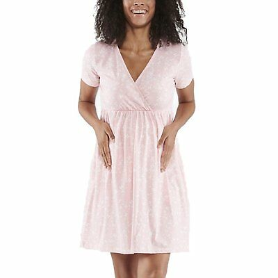 Nursing United Ladies Maternity Nightdress Nightwear With Two Sides Buttons Short Sleeve M61 Maternity
