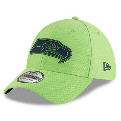 new concept 28a19 6bfd9 Seattle Seahawks New Era 2018 Training Camp Secondary 39THIRTY Flex Hat -  Neon