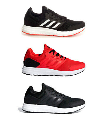 a53148fb40f adidas - Sneakers running Galaxy 4 Homme Rouge Noir Tissu Synthétique Plat