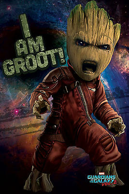 Guardians of the Galaxy 2 - Vol.2 - Angry Groot - Poster Plakat - 61x91,5 cm