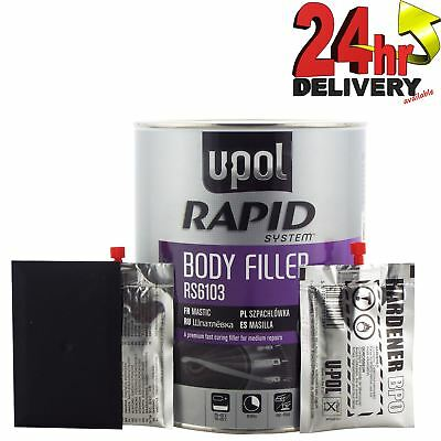 U-Pol RS6103 Ultra Fast Rapid System Premium Body Filler Repairs 3 Litre Upol