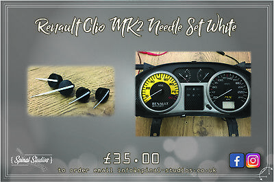 Renault Clio MK2 White Needle Set including 182 sport