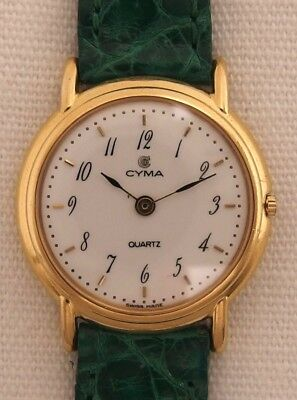 Cyma Women's Watch Wristwatch Vintage 80 Er Jahre