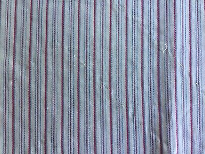 C.1900 - striped woven cotton panel for projects -