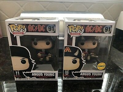 Funko Pop! Angus Young CHASE Set AC/DC AC DC Rocks IN STOCK Pop 91