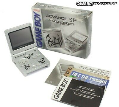 GameBoy Advance console GBA SP Tribal / Tattoo Version + power supply US boxed