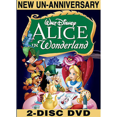 ALICE IN WONDERLAND (DVD, 2010 2-Disc Set, Un-Anniversary  Edition) NEW & SEALED