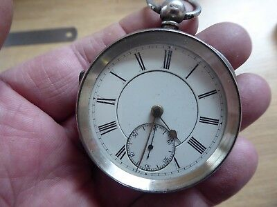 E.WISE QUALITY ANTIQUE  GENTS  SILVER FUSEE POCKET WATCH  DATES c1890