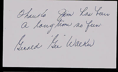 Gerard Walker (d. 1981) signed autograph 3x5 index card Baseball Player H6310