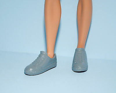 Silver Gray KEN Athletic Tennis Sports Casual Shoes No Lace Look Genuine BARBIE