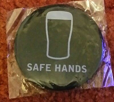 Guinness rugby six nations safe hands badge free uk p&p