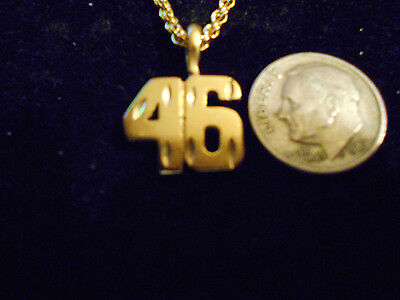 bling gold plated sport number 46 FASHION pendant charm hip hop necklace JEWELRY