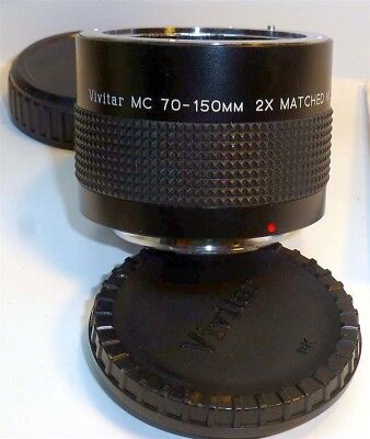 Vivitar MC 75-150mm 2x Matched Multiplier Tele-Converter Pentax P K mount