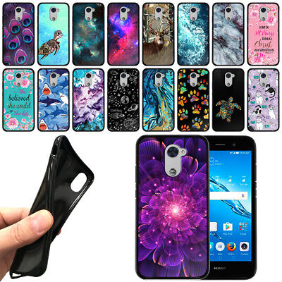 FOR HUAWEI ASCEND XT2 H1711 / Elate 4G Black Flexi TPU SILICONE Case Phone  Cover