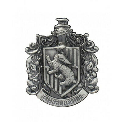 Harry Potter House of Hufflepuff Crest Logo Pewter Metal Lapel Pin NEW UNUSED