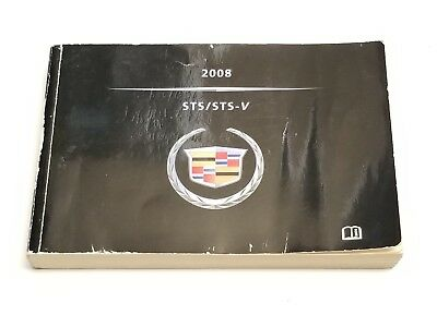 2008 Cadillac Sts / Sts-V Owners Manual Operators User Guide V6 3.6L V8 4.6L Awd