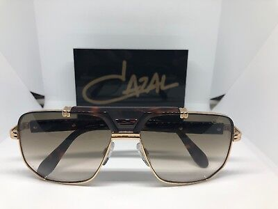 568b1cd0de8f Cazal Legends 990 003SG Brown Gold Metal Aviator Sunglasses Brown Gradient  Lens