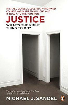 Justice: What's the Right Thing to Do? by Michael Sandel, Paperback Book, New, F