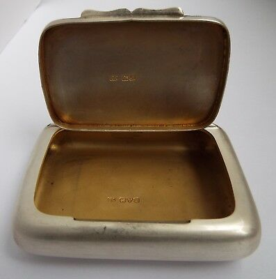 Superb Large Clean Heavy English Antique 1912 Solid Sterling Silver Tobacco Box