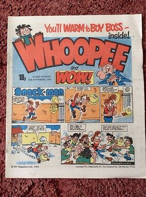 Whoopee And Wow Comic  26 November 1983. Unsold Newsagent Stock. Unread. V/fn+