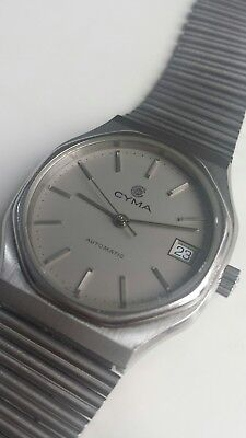 Cyma Vintage Gens automatic Watch Great Condition Swiss Made RARE..
