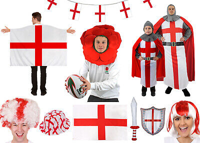 England St Georges Day Costumes Accessories Outfit Rugby Knight Fancy Dress Lot