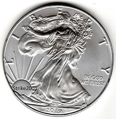 NEW !!! Dollaro USA 2019 Oncia Argento Liberty Eagle 1 oz. NEW !!!