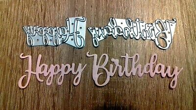 Sizzix Die Cutter Happy Birthday #23 Thinlits fits Big Shot Cuttlebug