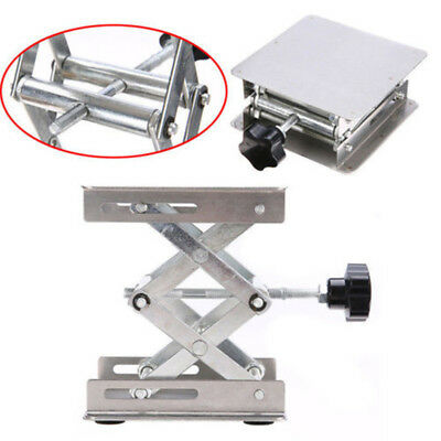 "100MM*100MM"" Aluminum Lab-Lift Lifting Platforms Stand Rack Scissor Lab Jack New"