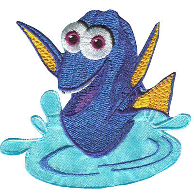 Sharks Chum Finding Nemo Purple 7.5cm Embroidered Sew or Iron on Badge