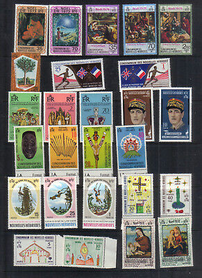 New Hebrides 1969-79 Ten sets unmounted or very lightly mounted mint