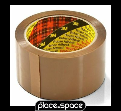 3M GENUINE SCOTCH® STRONG PACKAGING TAPE BROWN 1 ROLL 48mm WIDE X 66m LONG