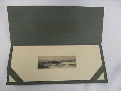 1907 HAND TINTED PHOTOGRAPH BY FRED THOMPSON ART CO. in ORIGINAL FOLDER