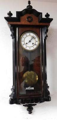 walnut & ebony cased vienna wall clock